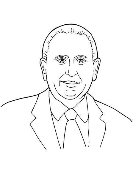 President Monson Coloring Page an illustration of our latter day prophet s