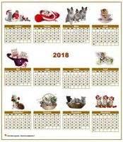 Calendrier De Chat Calendrier 2018 2017 2019 Etc Chats Gratuit