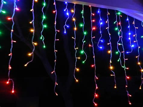 do icicle christmas lights use much power 500 led multi colour icicle curtain light drop ebay