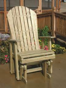 pine wood adirondack glider chair by dutchcrafters amish