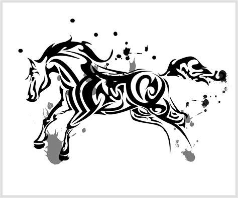 tribal tattoo horse tribal by chronophoenix on deviantart 1 tribal