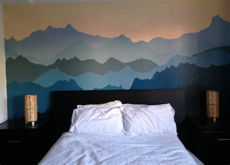 how to paint a mural on a bedroom wall an adventurous life how to paint a mountain mural