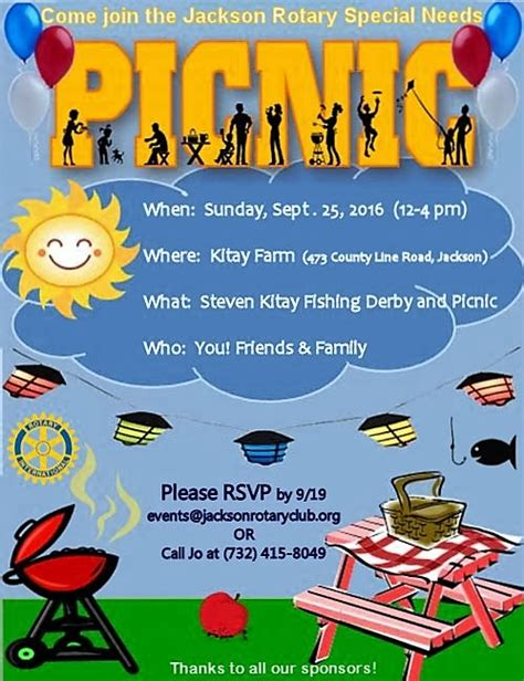 steve kitay special needs picnic and fishing derby