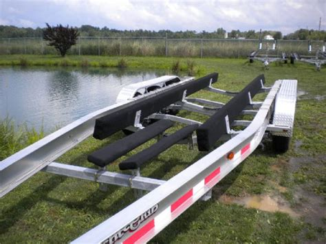 27 boat trailer for sale aluminum tri axle boat trailer 27 30 ft 14300 lbs chicago