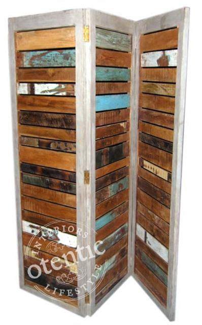 room divider palet wood framed refuge
