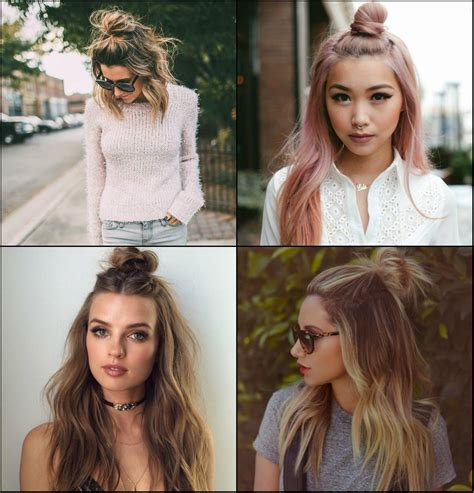 Top Hairstyles For 2017 For by Flirty Half Top Knots Hairstyles 2017 Pretty Hairstyles