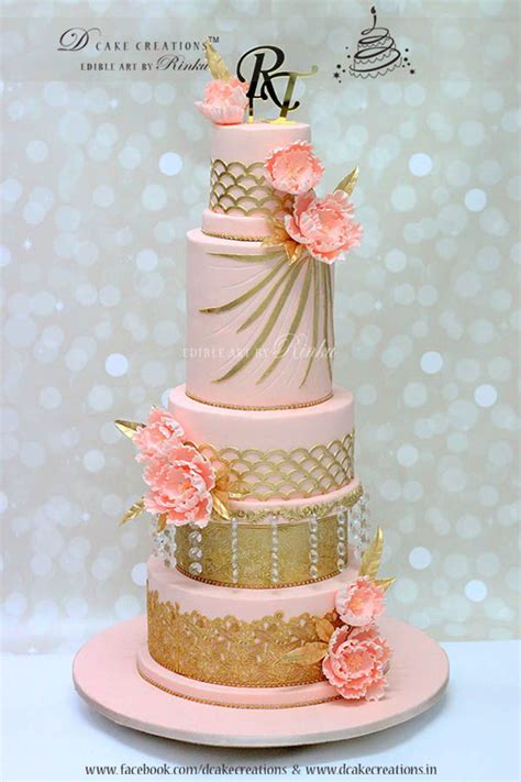 Wedding Cake Height by Five Tier Wedding Cake Cakecentral