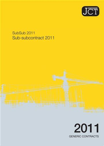 jct design and build contract 2005 free download sub subcontract