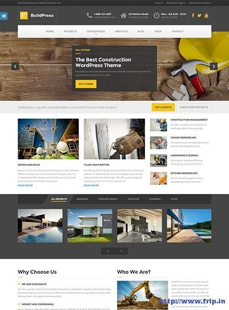 30 best wordpress construction themes 2015 frip in
