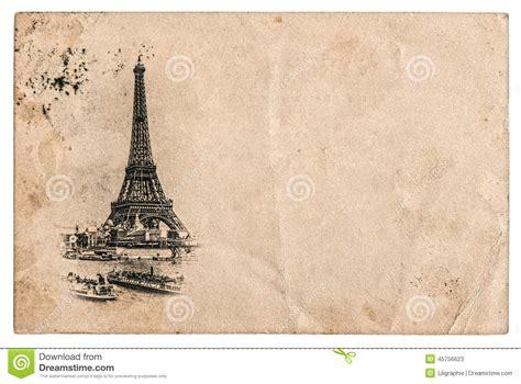 imagenes vintage de la torre eiffel postal del vintage con la torre eiffel en par 237 s francia
