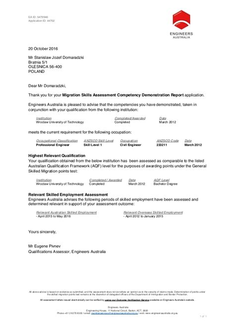161019 Msa Cdr Outcome Letter For 5479946 Msa Agreement Template