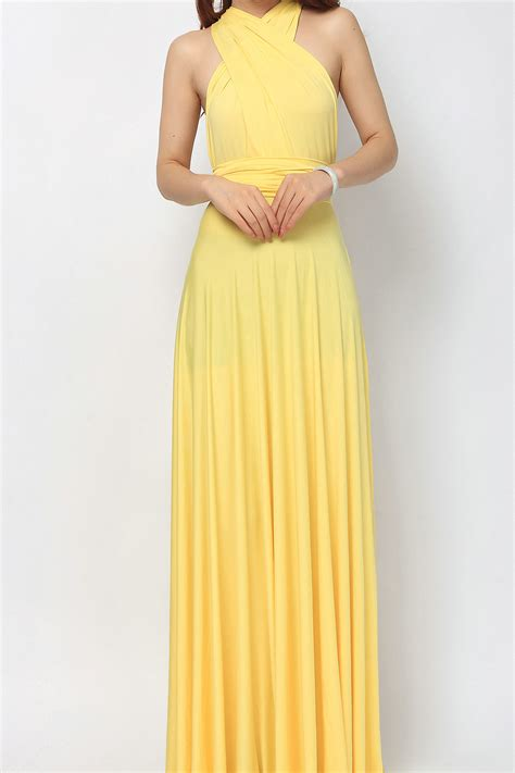 maxi infinity dress yellow maxi bridesmaid dress infinity dress lg 09 73