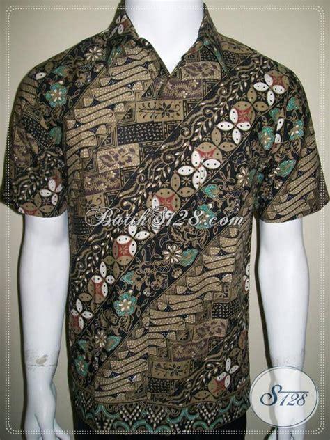 Batik Cap Parang Colet kemeja batik cap kombinasi tulis dan colet kain katun