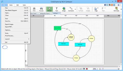 flowcharting program clickcharts free diagram and flowchart maker 3 02