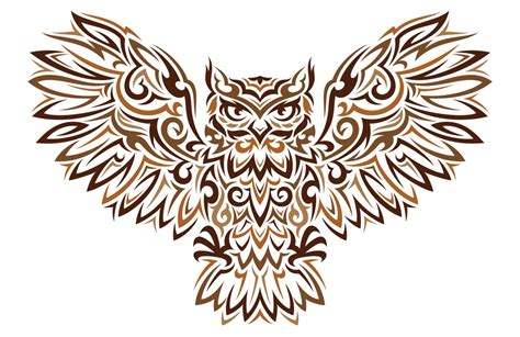 Designs Of by Tribal Owl Design Clipart Best