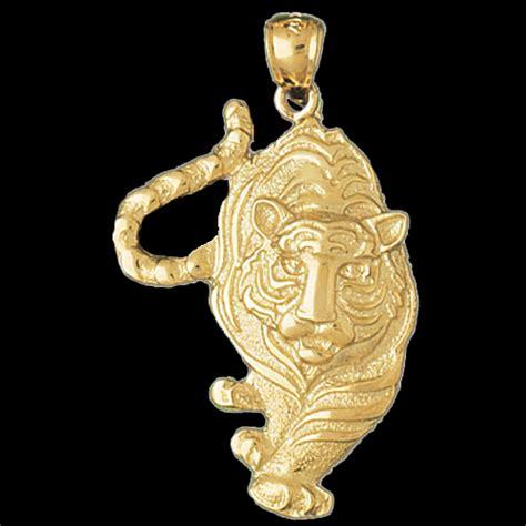 Stalking Tiger Gold Pendant
