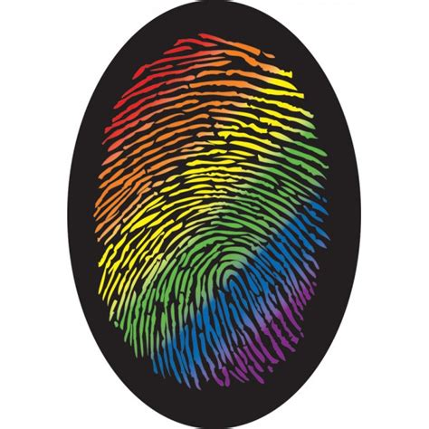 Polo Home Decor rainbow thumb print sticker