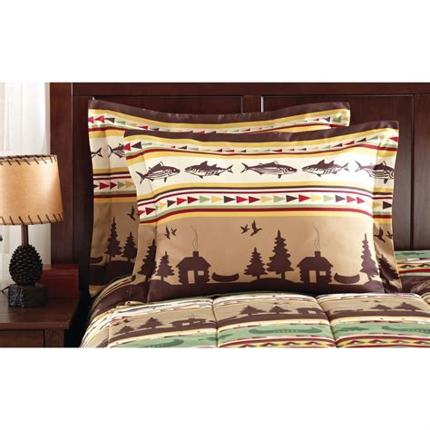 Lodge Bedding Sets In A Bag Fishing Cabin Lodge Lake 8 Complete Bed In A Bag Comforter Sets Choice New Bed In A Bag