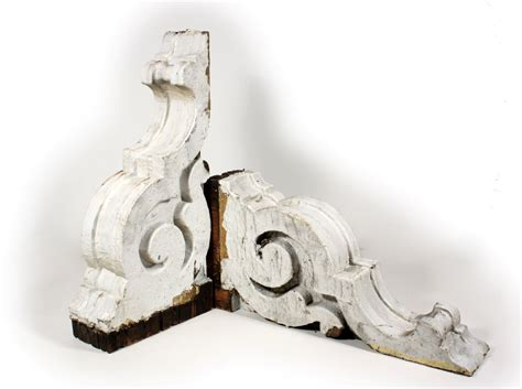 Antique Wood Corbels For Sale two matching pairs of white antique corbels c 1880 s npc12 one pair available for sale