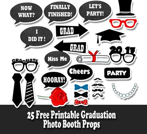 printable graduation photo booth props 2015 457 best graduation printables images on pinterest grad