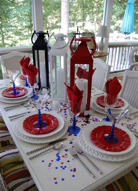 patriotic decorating ideas 20 lovely patriotic celebration table ideas
