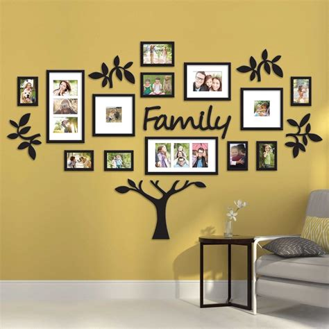 picture frame hanging ideas hallway family tree collage picture photo wall art large