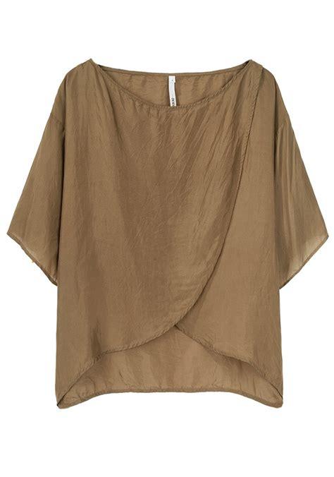 pattern silk shirt bodkin silk tulip top pretend this is machine washable