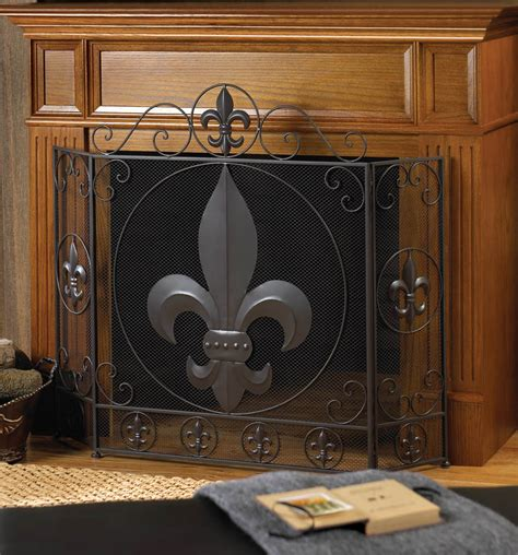 buy wholesale fleur de lis fireplace screen in bulk