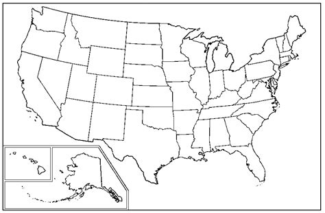 map of hte usa usa map clipart black and white clipartuse