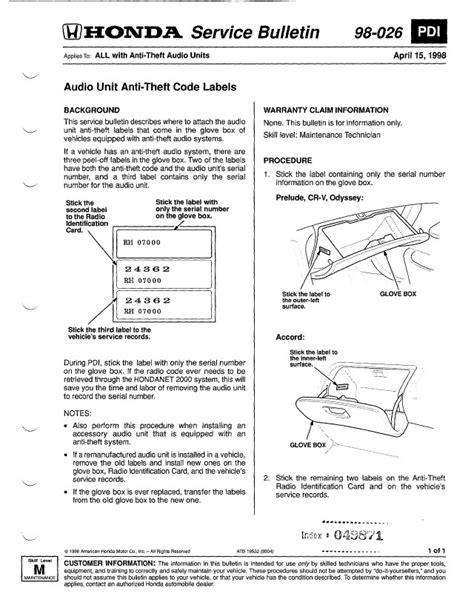 honda crv 1999 service manual