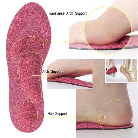 insoles for high arches heels footful breathable arch support insoles forefoot support