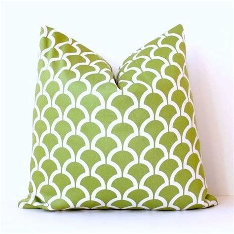 Chartreuse Pillows by Chartreuse Green Geometric Designer Pillow Cover 18 Quot White
