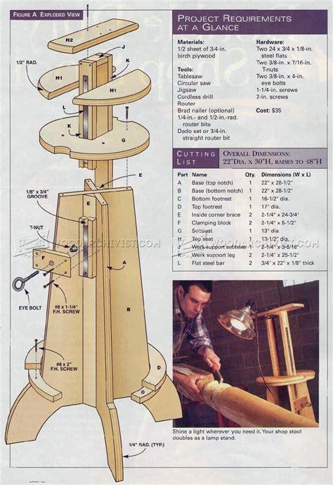 shop stool plans woodarchivist