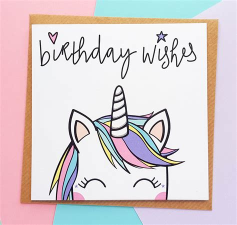 Unicorn Cards - unicorn birthday card handmade kio cards