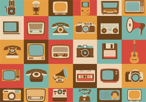 fotos retro retro media brush icons pack free photoshop brushes at