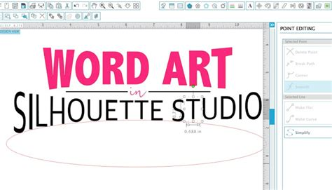 word art design for powerpoint 9 ways to make word art in silhouette studio silhouette