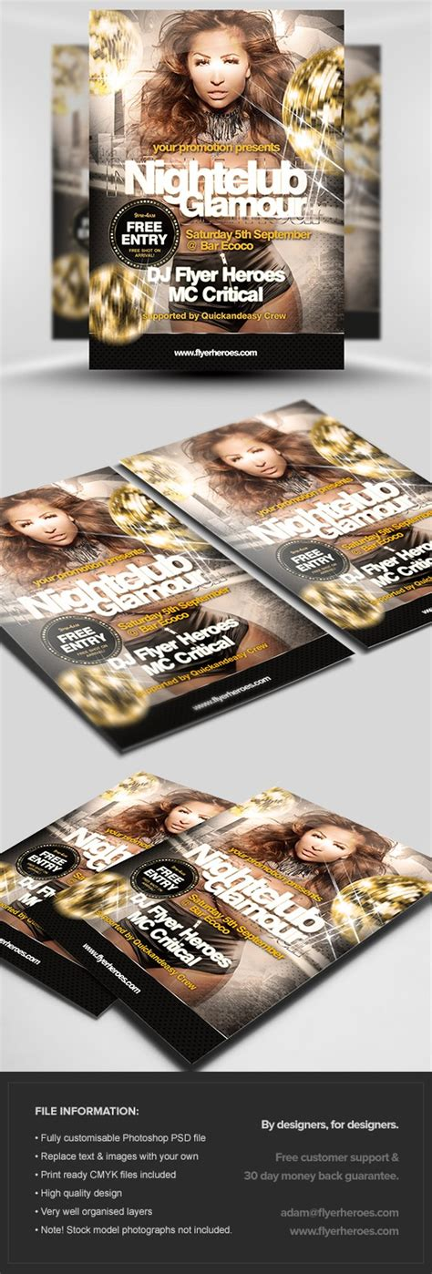 nightclub flyers templates nightclub flyer template flyerheroes