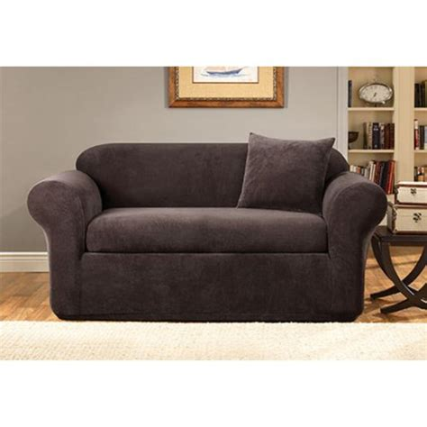discount sure fit slipcovers gt cheap sure fit stretch metro 2 piece sofa slipcover