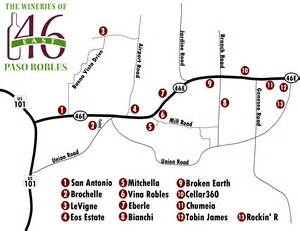 wine highway map wineries of highway 46 east vegas wineaux