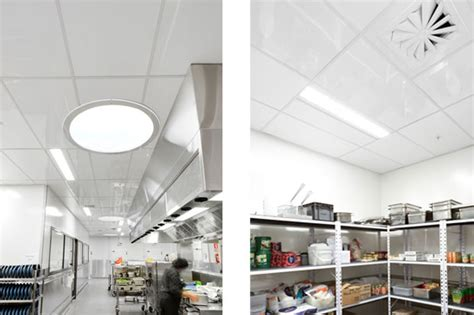 The Fenta Ceiling Tile Is A High Gloss Coated Fibre Cement Commercial Kitchen Ceiling Tiles