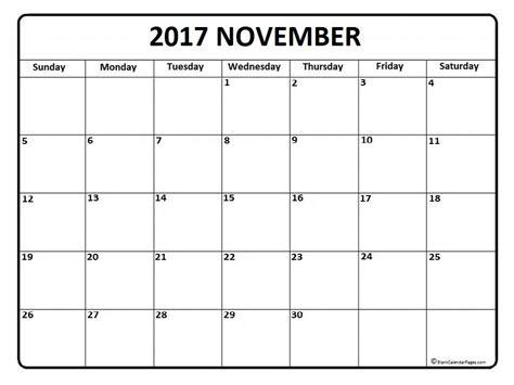 printable daily calendar november 2017 november calendar 2017 printable and free blank calendar