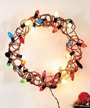 Christmas light wreath christmas pinterest