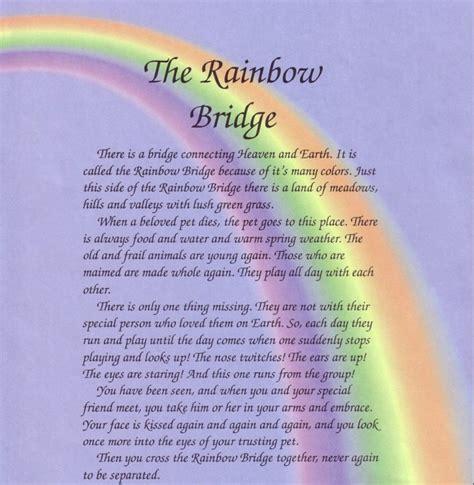 2219 best rainbow bridge images on quote rainbow bridge pet heaven poem about the rainbow bridge