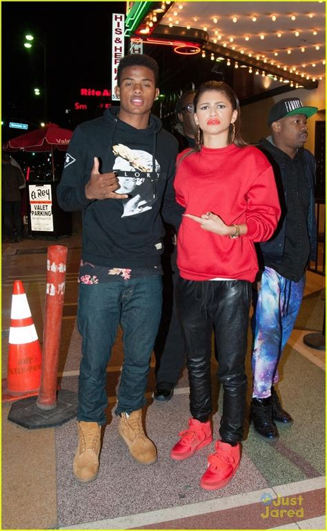 are zendaya and trevor jackson zendaya rocks a red suit while arriving at the el rey