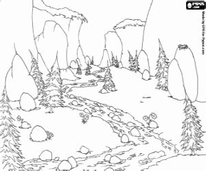 Water Landscapes Coloring Pages Printable Games Meadow Coloring Page