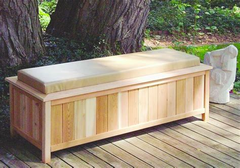 outdoor storage bench with cushion large cedar storage bench with cushion top 2054 outdoor