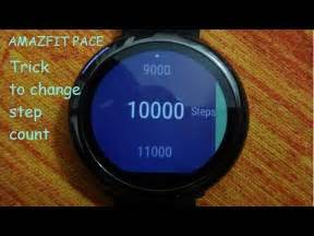 reset step count on vivosmart amazfit how to change step goal count on amazfit pace