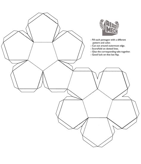 dodecahedron template book report www imgkid com the