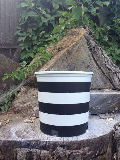 diy black and white striped planters rhiannon s interiors
