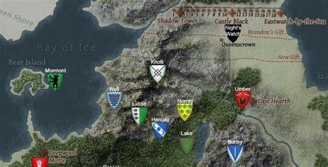 houses of the north westeros the north oakthornewiki